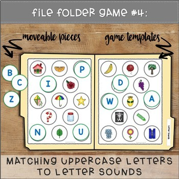 Matching Letters File Folder Games SPRING THEME
