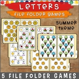 Matching Letters File Folder Games SUMMER THEME