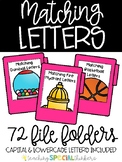 Matching Letters File Folders (Uppercase and Lowercase Included)
