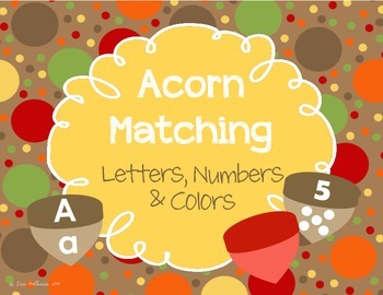Matching - Letters, Numbers, and Colors for Autumn