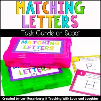 Matching Letters Scoot or Task Cards