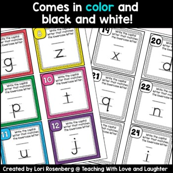 Matching Letters Task Cards or Scoot