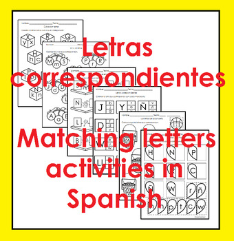 Matching Letters in Spanish Activities