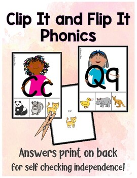 Matching Letters to Sounds - Phonics Clip Cards for Independent Practice