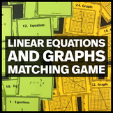 Linear Equations and Graphs - Middle School Math Matching Game