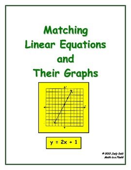 Matching Linear Equations and Their Graphs: Flash Card Game