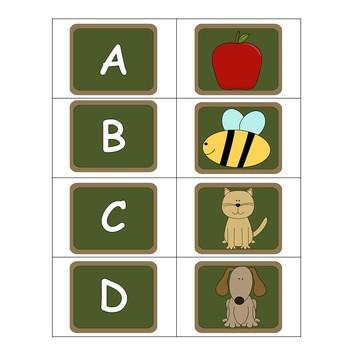 Matching Literacy Centers- Minimal Prep Work