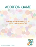 Matching Math Game - Addition