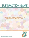 Matching Math Game - Subtraction