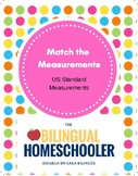 Measurements Task Card Matching Cards Second Third Grade Math