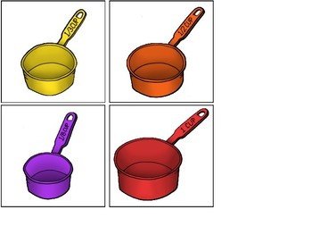 Matching Measuring Cups and Spoons