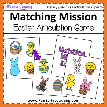 Matching Mission - Easter Articulation Game