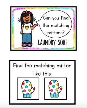 Matching Mittens! Laundry Sort!