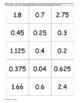 Matching Models, Fractions, Decimals and Percents-Number Line