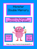 Matching Monsters Doubles Memory Game