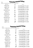 Matching Musical Notes Worksheet and Answer key