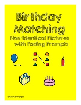 Matching Non-Identical Birthday Items with Fading Prompts