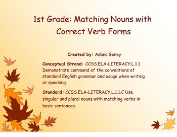 Matching Nouns with the Correct Verb Forms