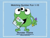 Matching Numbers 1-10 Funny Monster Theme