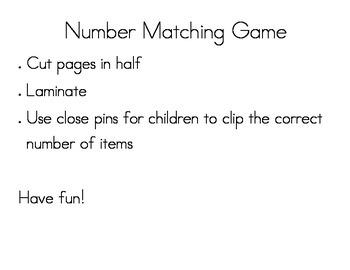 Matching Number Game