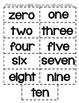 Matching Number Words Zero - Ten