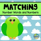 Matching Number Words and Numbers File Folder Games