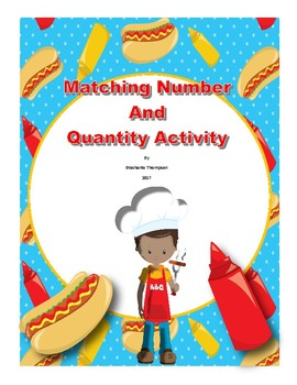 Matching Number and Quantity Activity (Math) BBQ Theme