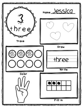 Matching Numbers 0-20