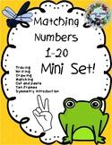 Matching Numbers 0-20 Mini Freebie