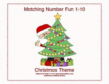 Matching Numbers 1-10 Christmas Theme