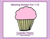 Matching Numbers 1-10 Cupcake Theme