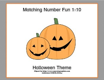 Matching Numbers 1-10 Halloween Theme