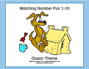 Matching Numbers 1-10 Ocean Theme