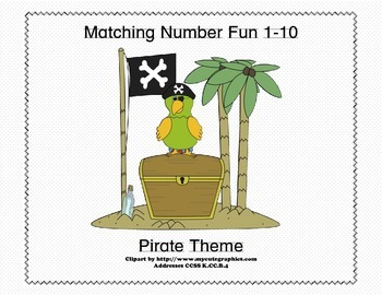 Matching Numbers 1-10 Pirates Theme