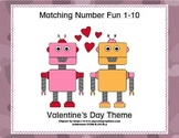 Matching Numbers 1-10 Valentine's Day
