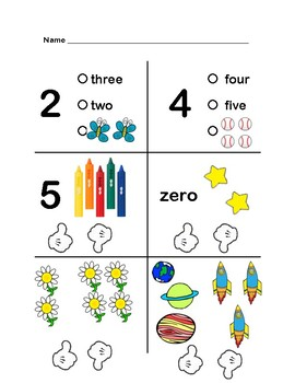 Matching Numbers Assessment