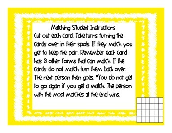 Matching Numbers- Base Ten Shorthand, Standard, Expanded, & Word Form