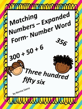 Matching Numbers- Expanded Form and Number Words
