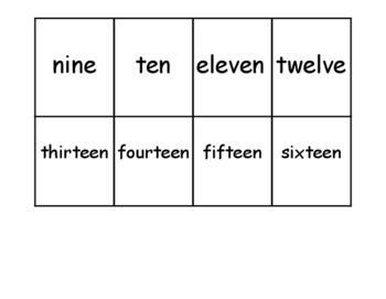 Matching Numbers File Folder