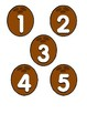 Matching Numbers File Folder Game--Coconuts