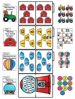 Matching Numbers File Folders (Number words, too!)