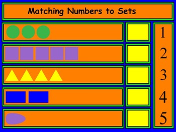 Matching Numbers To Sets - Counting - Mimio