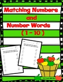 Matching Numbers and Number Words