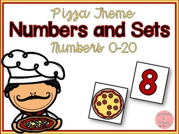 Matching Numbers and Sets 0-20! Pizza Theme!