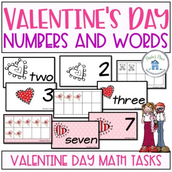 Matching Numbers to 20 Valentine's Day
