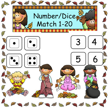 Matching Numbers to Dice 1-20