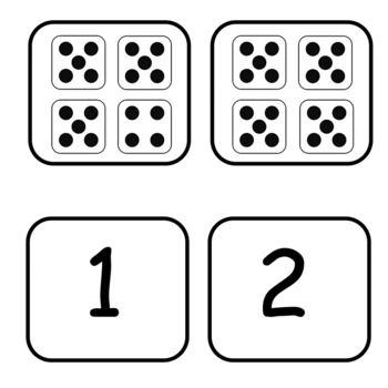 Subitizing Matching Numbers to Dice 1-20