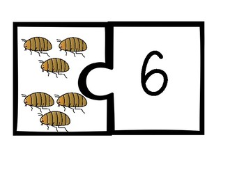 Matching Numbers to Sets Puzzle Pieces Freebie