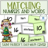 Matching Numerals to Words St Patrick's Day Theme