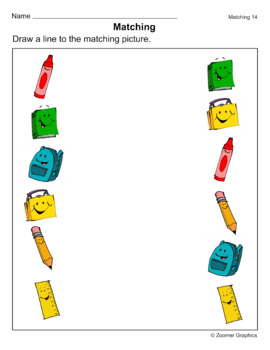 Matching Objects Activity Sheets